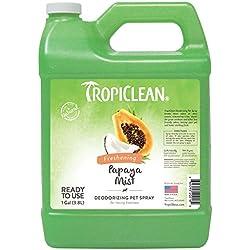 TropiClean Papaya Mist Deodorizing Pet Spray, 1 Gallon