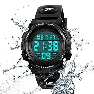 Kids Watch Multi Function 50M Waterproof Sport LED Alarm Stopwatch Digital Child Wristwatch for Boy Girl