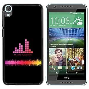 LECELL -- Funda protectora / Cubierta / Piel For HTC Desire 820 -- Music Bar Graph --