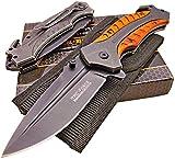 tactical knife sharp - TAC-FORCE Large Spring Assisted Opening Rescue Tactical Knife: Razor Sharp Blade - Glass Breaker - Belt Cutter - Pakkawood Handles - Heavy Duty Cordura Sheath. Bundle - 2 items: 1 knife and 1 sheath