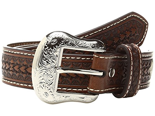 Nocona Boy's Round Bar Conchos Belt, Tan, 28