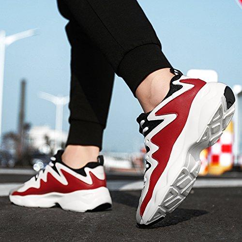De Printemps Maille Chaussures Noir Tennis Mookey Rouge Sport Chaussures Sport De Blanc Running Hommes De De aw0TU