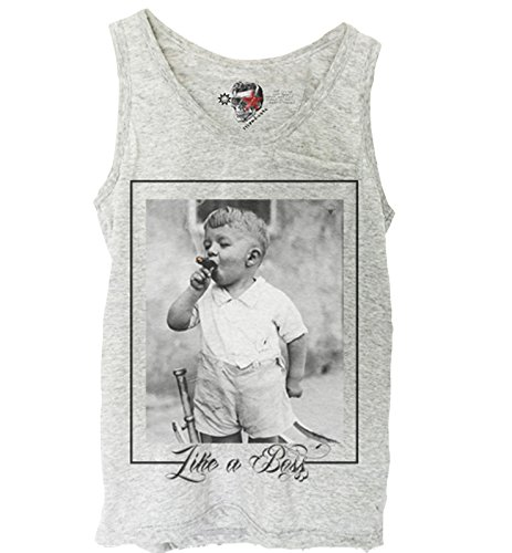 E1SYNDICATE GREY TANK TOP SHIRT LIKE A BOSS OBEY WASTED YOUTH DISOBEY S-XL