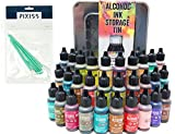 #8: 30x Tim Holtz Alcohol Ink .5oz Bottles (Assorted Colors), Tim Holtz Alcohol Ink Storage Tin (Holds All 30 Inks), 8X Pixiss Ink Blending Tools