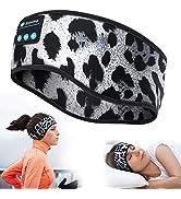 MUSICOZY Sleep Headphones Bluetooth Sports Headband, Wireless Music Sleeping Headphones Sleep Eye...