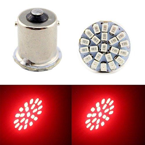 ((Pack of 4) Red Color 1156 7506 1003 1141 1073 BA15S 1095 1073 LED Bulbs with Projector Interior RV Camper light,Back Up Reverse Lights,Tail Lights,Brake lights 6000K)