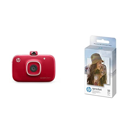 HP Sprocket 2-in-1 Portable Photo Printer & Instant Camera, print social media photos on 2x3