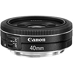 A unique and indispensable addition to Canon's series of EF lenses, the new EF 40mm f/2.8 STM offers an ultra-slim and lightweight design. Incredibly compact in size, the EF 40mm f/2.8 STM delivers high image quality from the center to the pe...