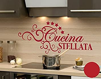 Wall Sticker Cucina Stellata, red, 70cm x 29cm: Amazon.co.uk ...