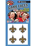 New Orleans Fleur de lis - Black and Gold - 4pc - Waterless Peel & Stick Temporary Spirit Tattoos