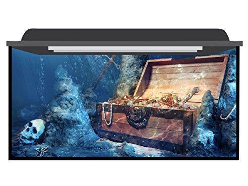 Deep Blue Themes Favorite Treasure Aquarium Background (>210 Gallons (100Wx40H)) by Deep Blue Themes