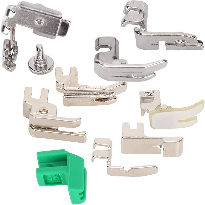 juego de pies compensadores de dobladillo enrollado Accesorios de m/áquina de coser para m/áquina de coser de pedal viejo 9Pcs//Set Kit de prensatelas
