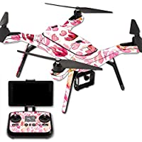 MightySkins Protective Vinyl Skin Decal for 3DR Solo Drone Quadcopter wrap cover sticker skins Pink Petals