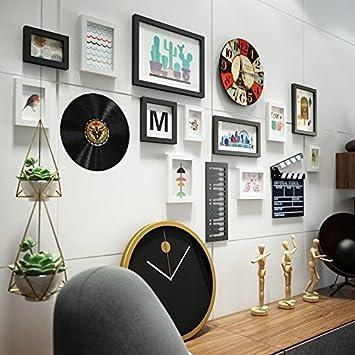 HJKY Foto Rahmen Wand Set Wandaufkleber 3D Stereo Selbstklebend Wohnzimmer  Hintergrund Wand Tapete Schlafzimmer