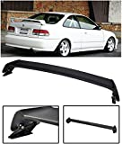 VXMOTOR Mugen Style ABS Plastic Rear Trunk Lip Wing Spoiler 1996-2000 Honda Civic 2 Door 2DR Coupe ONLY