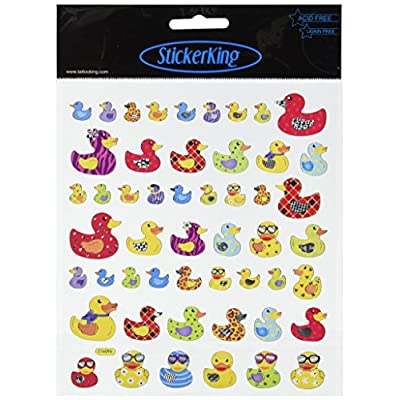 Tattoo King Multi-Colored Stickers-Mult-Patterned Ducks: Arts, Crafts & Sewing