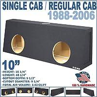 10 dual sealed Regular cab / single cab sub woofer speaker box