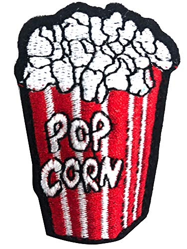 10 PC Popcorn Food Iron On Embroidered Patch for Cloth Cartoon Badge Garment Appliques DIY Accessory ()