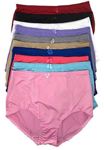 Peachy Panty 6 Pack Nylon Full Coverage Women's Panties (4X-Large)
