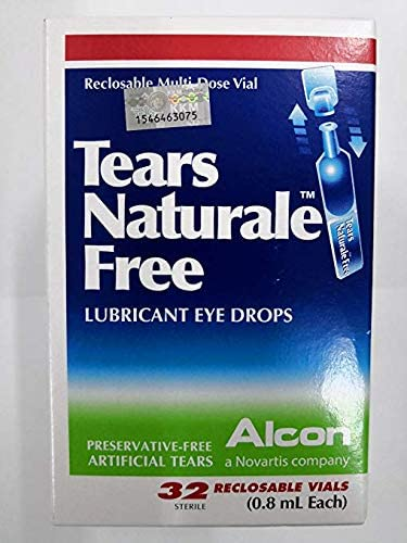 Amazon Com Alcon Tears Naturale Free Lubricant Eye Drops 32 Reclosable Vails 0 8ml Health Personal Care