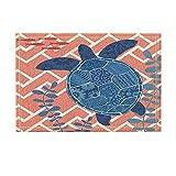 NYMB Ocean Animal Shower Curtain, Creative Blue Sea Turtles Fish In Underwater Plane Figure, Non-Slip Doormat Floor Entryways Indoor Front Door Mat, Kids Bath Mat, 15.7x23.6in, Bathroom Accessories
