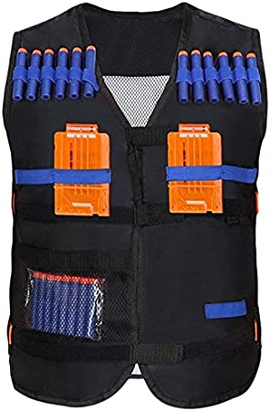 Yosoo Elite Chaleco t/áctico para ni/ños para pistola Nerf de goma EVA N-Strike Elite Series