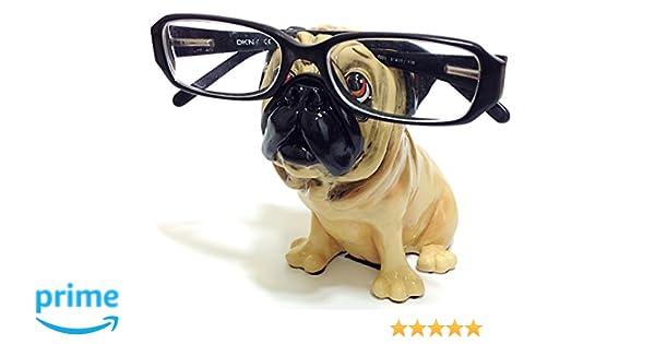 82087e3ee98 Amazon.com  Tan Pug Dog Breed Novelty Eyeglass Holder Stand  Health    Personal Care