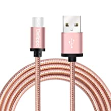 Delippo USB Type C Cable 4.9ft/1.5m Braided Charging Cord Metal with Reversible Connector for New Macbook 12 inch, ChromeBook Pixel, Nokia N1 Tablet, Nexus 5X, Nexus 6P, OnePlus 2 and Other Type C Devices(Pink)