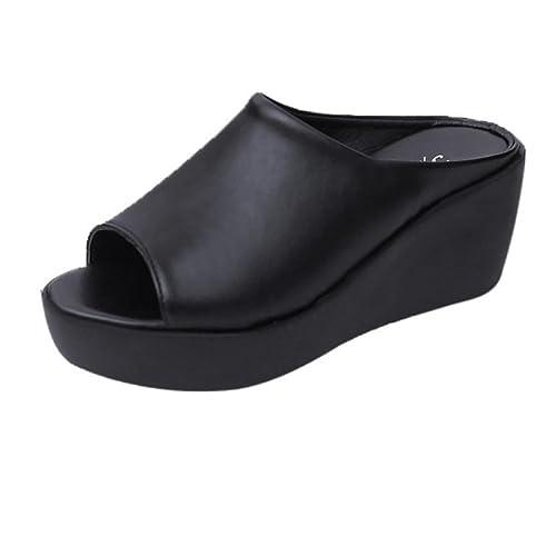 11d0fe500df7 Inkach Womens Wedges Sandals - Fashion Summer Platform Sandals Chunky High  Flip-Flops Slippers Shoes