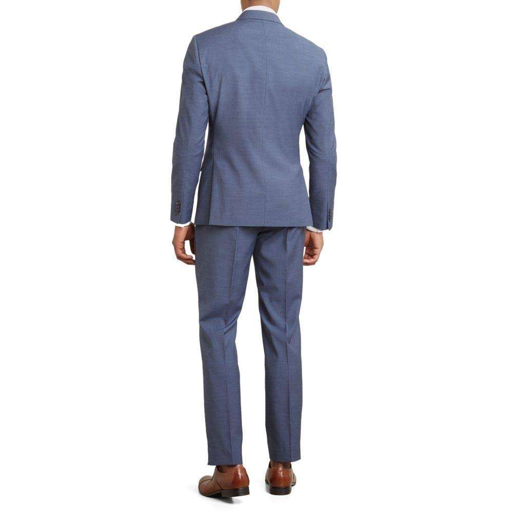 b7737371fb Reaction Kenneth Cole Textured Slim Fit Nested Suit at Amazon Men's  Clothing store: