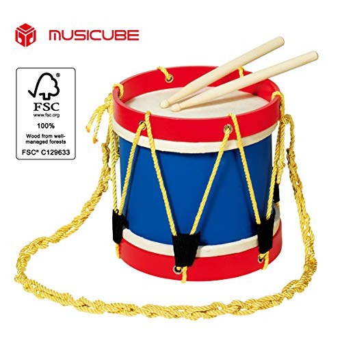 MUSICUBE Marching Drum Set, USA America Painted Design, Great Sound Quality 8 Inch for Kids with Stick