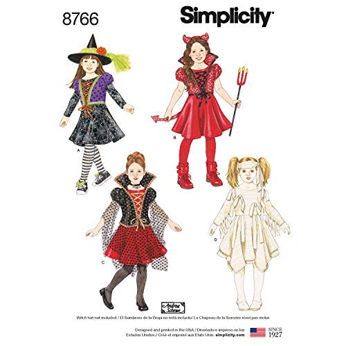 Simplicity Patterns US8766A Costumes A (3-4-5-6-7-8)