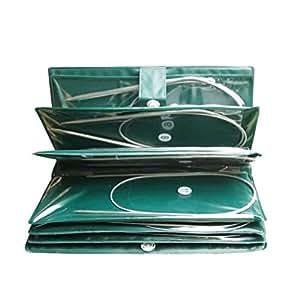 Amazon.com: Celine lin agujas de tejer circulares de 16 ...