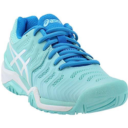 ASICS Women's Gel-Resolution 7 Tennis Shoe, Aqua Splash/White/Diva Blue, 12 M US