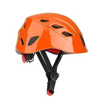 perfk Cascos de Escalada Kayak Rapel Protector de Rescate de Naranja Casco Seguridad de Equitación Multiusos