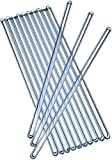reusable coffee stirrers - Glass Stirring Sticks Pack Of 10 Multifunctional Crystal Clear Coffee Stirrers – Anti-Scratch & Nonstick Mixing Stir Rods For Drinks, Cold & Hot Beverages, Cocktails & Lab Experiments