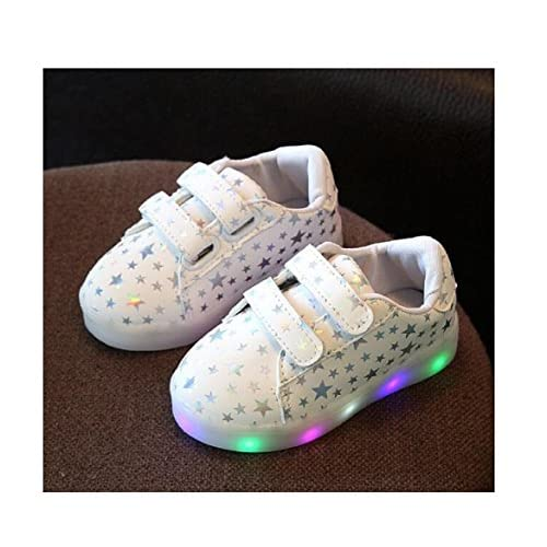 657c6d5a00543 Children Shoes With Light Chaussure Led Enfant Spring Autumn New Stars Led  Girls Shoes Sports Breathable