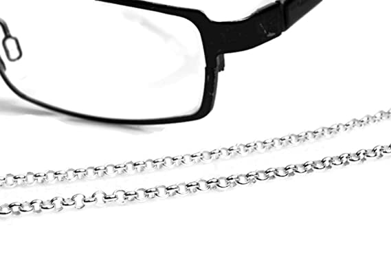 1cd48accee4c Image Unavailable. Image not available for. Color  Rolo Eyeglass Chain in  Sterling Silver ...