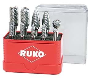 Ruko 116002 Terrax - Juego de fresas de metal duro (10 piezas)