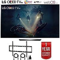 LG OLED B7A Series 4K HDR Smart TV 55 or 65 inch, Essential or Executive Bundle (OLED65B7A, Essential Bundle)