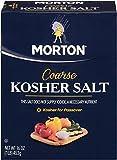 Morton Coarse Kosher Salt – For Everyday Cooking, Grilling, Brining, and as a Margarita Salt Rimmer, 3 Lb. Box