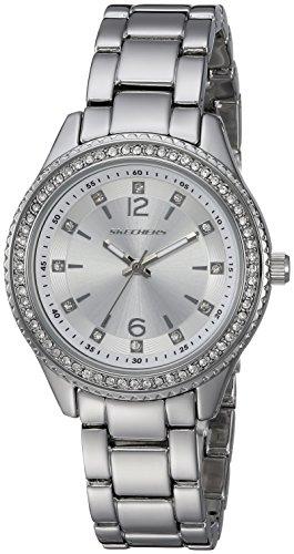 Skechers Women's Quartz Metal and Alloy Casual Watch, Color:Silver-Toned (Model: SR6122)