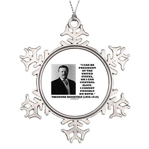 Metal Ornaments Tree Branch Decoration I Can Be President Of The United States Or Control Annual Christmas Snowflake Ornaments