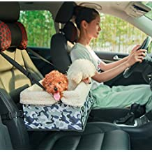 Waterproof Pet Booster Car Seat, Mindsinglong Portable Foldable Pets Carrier Bag For Cats Small and Medium Size Dogs and Other Animals with Adjustable Straps and High Quality Padding-Camouflage