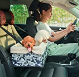 Waterproof Pet Booster Car Seat, Mindsinglong Portable Foldable Pets Carrier Bag For Cats Small and Medium Size Dogs and Other Animals with Adjustable Straps and Padding-Camouflage