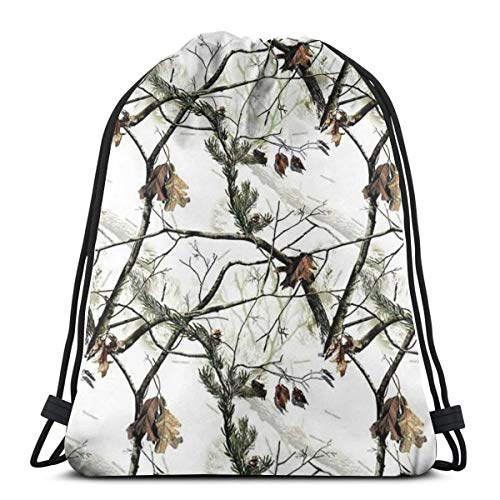 Realtree Camo (2) 3D Print Drawstring Backpack Rucksack Shoulder Bags Gym Bag For Adult 16.9