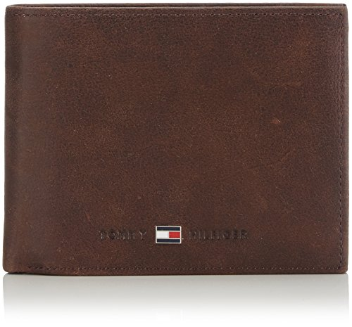 Tommy Hilfiger JOHNSON CC FLAP AND COIN POCKET AM0AM00660 Herren Geldbörsen 13x10x2 cm (B x H x T), Braun (Brown 041)