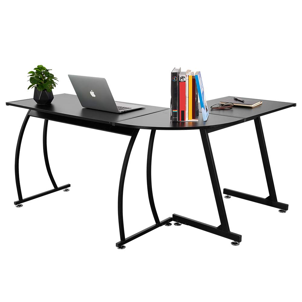 VADIM L-Shaped Home Office Corner Desk 57.9 inch Switchable Sides Computer Desk Be Computer Writing Desk, Workstation or Gaming Desk by VADIM