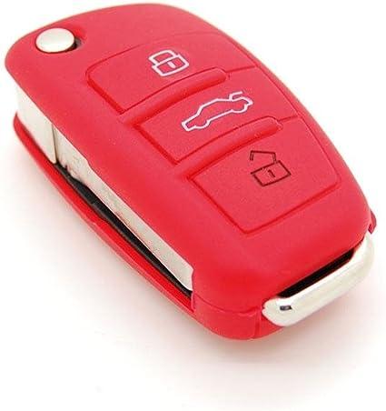 Housse de clé silicone Audi 3 boutons Couleur Bleu