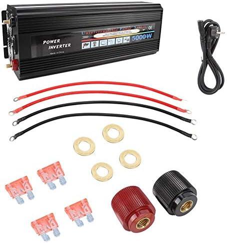 Zunate Solar Wechselrichter,Solar Inverter 5000 Watt AC220V Reine Sinus Wechselrichter Power Converter Verstärker Home Inverter Modifizierte Sinuswelle solarwechselrichter, 48 * 18 * 14 cm